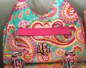 Large Paisley beach bag