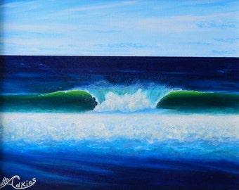 Green wave,ocean,blue water,sea,tropical,beach,tranquil,green,sky,Hawaii