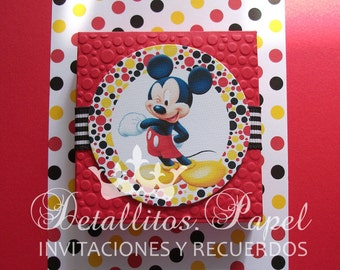 Invitations Souvenirs Mickey Mouse y Minnie Mouse