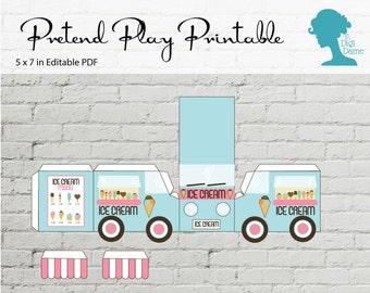 Pretend Play Printable: Ice Cream Truck/Van Buy 2 Get 1 FREE INSTANT DOWNLOAD