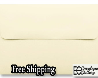 """A1 Ivory Envelopes for (3 3/8"""" x 4 7/8"""") Invitations Response Cards Announcements Weddings Showers Greeting Ecru Natural"""