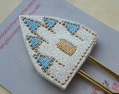 Baby Blue and Gold Castle Paper Clip