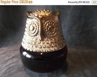 Summer Sale 25% Vintage 1970's Avon Owl with Raging Violet Cologne Gelee Decanter bottle