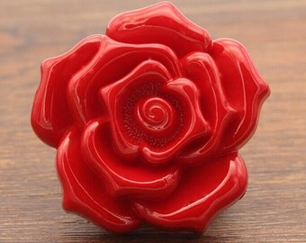 6 pcs Red Rose Button Sweater Button Fashion Overcoat Button Wind Coat -15mm~38mm(0.59-1.49inch),Red