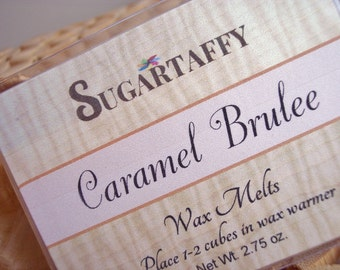 CARAMEL BRULEE Wax Melts, Scented Tarts, Candle Melts, Fragrance Wax Cubes