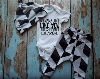 My Mama Don't Like You, Newborn Set, Coming Home Outfit
