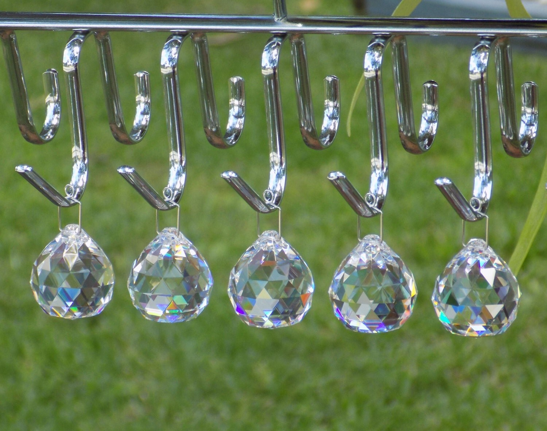 5 Pcs Crystal Ball Christmas Ornament Wedding Chandelier