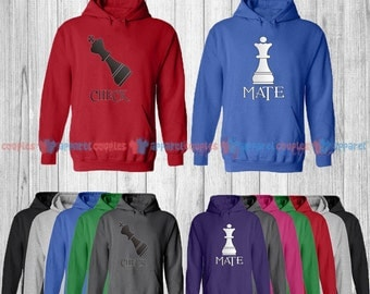 CheckMate - Matching Couple Hoodie - His and Her Hoodies - Love Sweaters