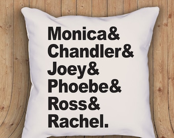 Friends tribute throw pillow -Friends honor roll pillow  - with stuffing