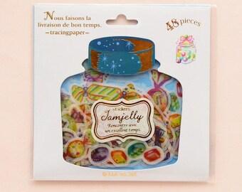 48Pcs Cute Candy Sweets Flake Sticker Sack