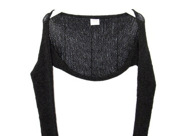 Graphite Shrug, Knit Shrug, Shrug, Summer Shrug, Cotton Shrug, Boleros, Knit Boleros, Summer Boleros