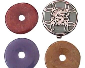 925 Multi - Color Jadeite Jade Pendant