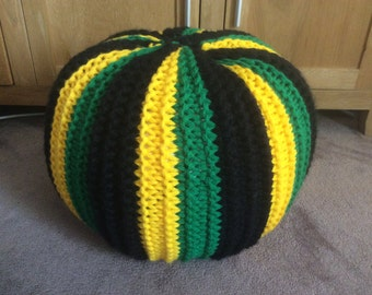 Jamaican pouf/footstool/floor cushion ( unstuffed )