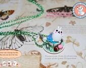 Bunny Tea Party Necklace - Alice in Wonderland