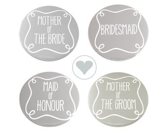 Pack of 4 Wedding Guest Mirrors - Grey