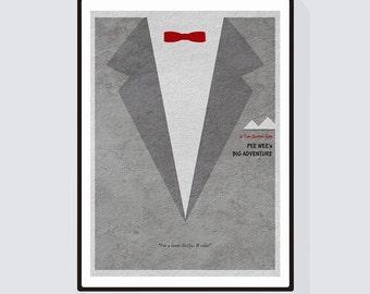 Pee-Wee's Big Adventure Minimalist Alternative Movie Print & Poster