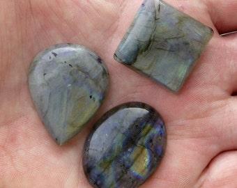 Labradorite cabochon, lot no. 1, 136.1 carat