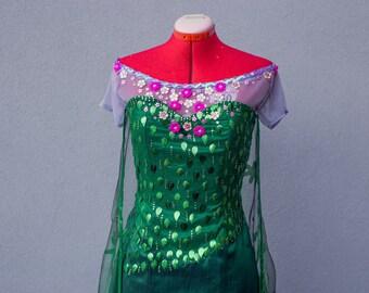 Elsa Frozen Fever green costume Disney