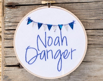 Personalized Name Hoop, Nursery Decor, Hand Embroidery, Custom Baby Gift, Baby Shower Gift, Wall Art, Modern Embroidery, Personalized Gift