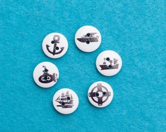 White Nautical Buttons