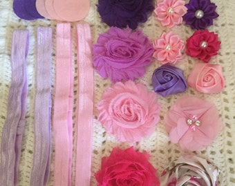 Pink and Purple Headband Kit - Baby-7 years