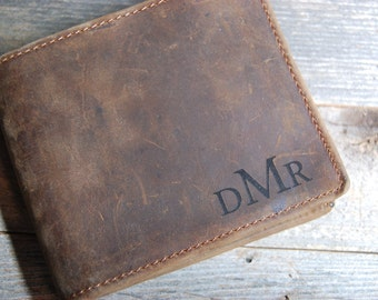 QUANTITY DISCOUNTS!!,  card wallet, Personalized Cowhide Wallet, personalized Wallet, Groomsmen, personalized leather Wallet, crazy horse