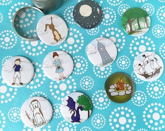"Story Buttons Kit- Story ""Stones"", Kids Gifts, Christmas Present for Kids, Kids Gift, Gift for Kids, gift for young writers, Children's Gift"