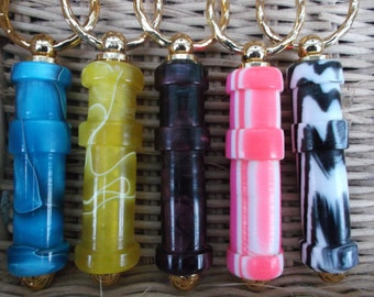 NEW Colours - WPI gauge keyring (wraps per inch) handturned