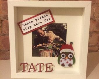 Santa please stop here frame