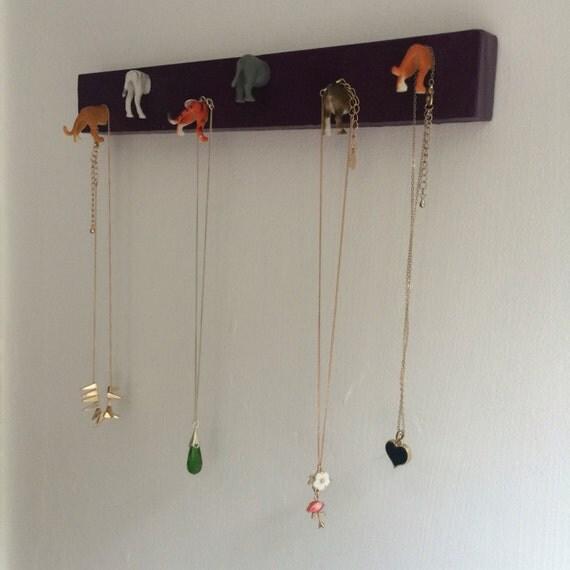 Necklace hanger jewellery organiser animal head faux taxidermy jewelery storage key hanger key hook