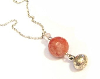 Pregnancy jewelry - necklace Bola - stones and Silver 925
