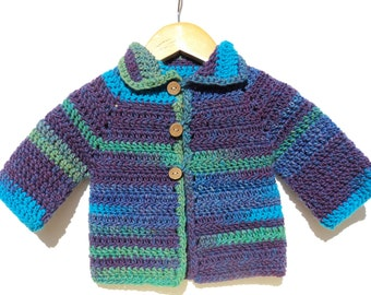Crochet baby jacket cardigan