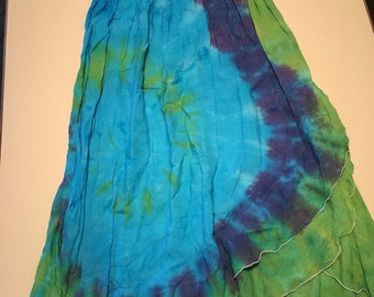Blue and green 2 in 1 dress size medium