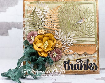 Handmade Give Thanks Fall Thanksgiving Card