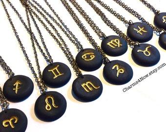 Constellation Zodiac Necklace, Christmas Gift, Sagittarius, Cancer, Leo, Libra, Scorpio, Capricorn, Aquarius, Pisces, Aries, Taurus, Gemini