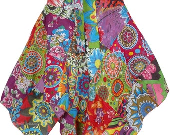 Womens Floral Printed Patchwork Skirt