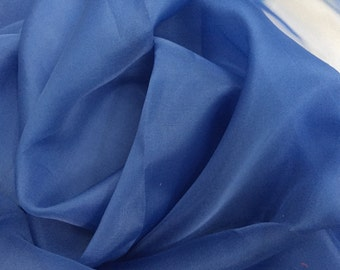 100% Silk Organza, Royal Blue, an amazing quality, 45 inches wide, 3 Yard piece