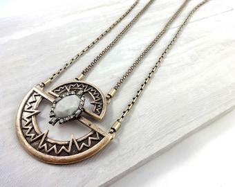 boho necklace, statement necklace, boho chic necklace, bohemian necklace, gold boho necklace, gypsy necklace, tribal necklace