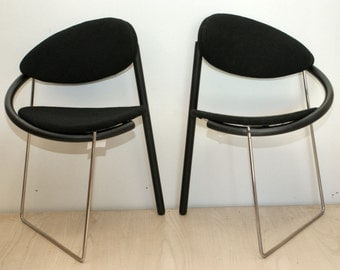 Memphis design dining room chairs by Mazairac and Bal for Cab 1986