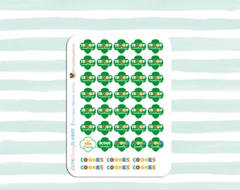 Girl Scout Stickers for your Planner, calendar, or scrapbooking