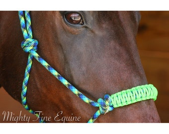 Custom Rope Halter/Bitless Bridle