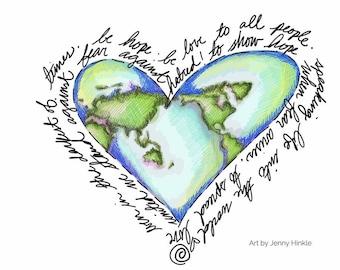 What the World Needs - 11x17 print