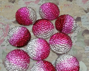20mm Ombre Pink Cabochons