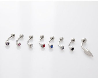 On Sale Silver Eyebrow Rings barbells made in surgical steel.