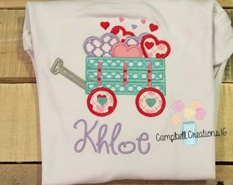 Valentine Wagon Shirt - Valentine Day Shirt For Girls - Girl Valentines Day Shirt - Girl Valentine Shirt - Valentine Shirt - Valentines Day