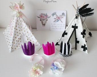 teepee toppers - mini headdresses or flower posy
