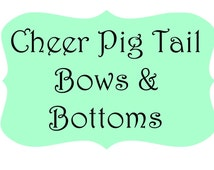 Cheer Pig Tail Bows With Matching Bottoms