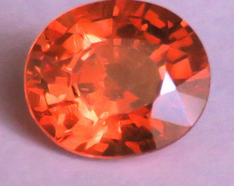 2.38CT 100% unheated natural spessartite garnet from africa