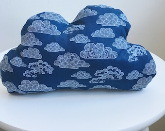 Blue Cloud Decorative Pillow Nursery Decor Baby Boy