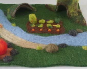 Needle Felted Play Mat